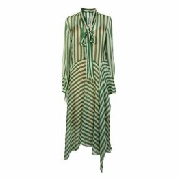 PETAR PETROV Striped Sheer Maxi Dress