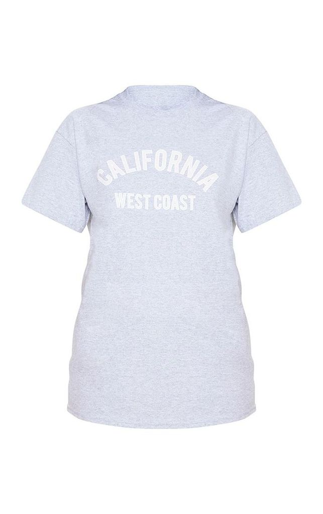 Pink Slogan California Oversized T Shirt, Pink
