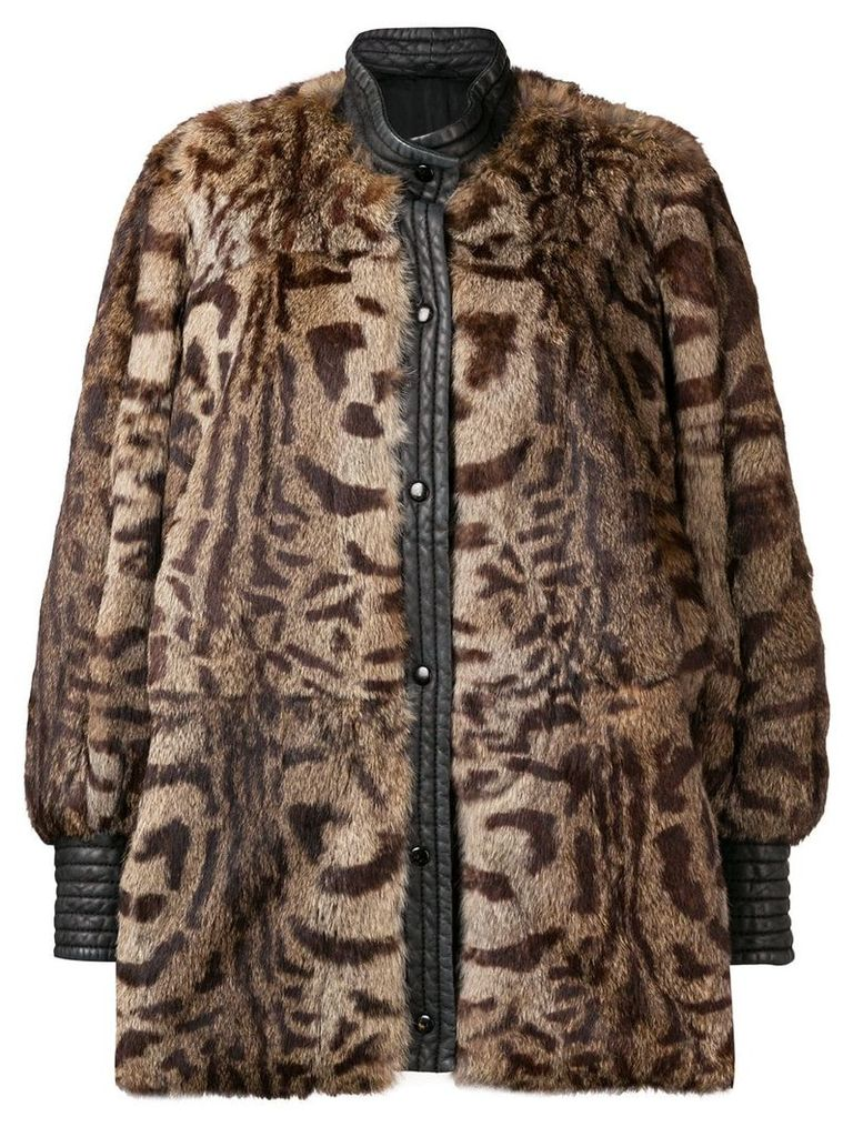 A.N.G.E.L.O. Vintage Cult leopard print fur coat - Brown