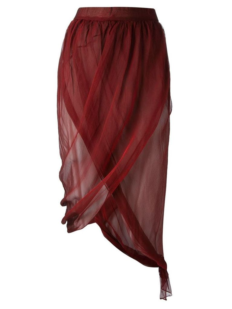 Romeo Gigli Vintage draped wrap skirt - Red