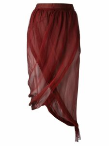 Romeo Gigli Pre-Owned draped wrap skirt - Red