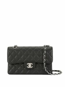 Chanel Pre-Owned CC logos double flap chain shoulder bag - Black
