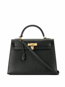 Hermès Pre-Owned 2001 Kelly 32 2way hand bag - Black