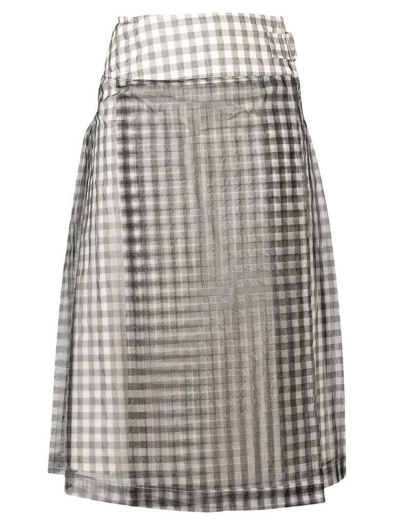 Comme Des Garçons Vintage gingham A-line skirt - Black