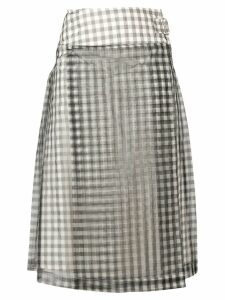 Comme Des Garçons Pre-Owned gingham A-line skirt - Black