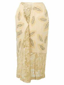 Comme Des Garçons Pre-Owned 1997's lace panelled skirt - Neutrals