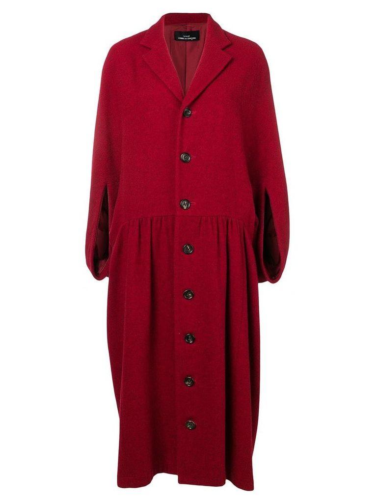 Comme Des Garçons Vintage 1996's cape coat - Red