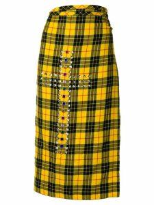 Comme Des Garçons Pre-Owned 2000's plaid envelope skirt - Yellow
