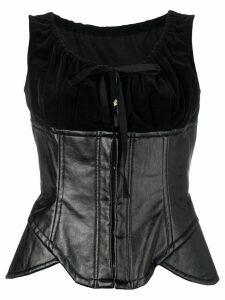 Comme Des Garçons Pre-Owned 2001's artificial leather bustier - Black