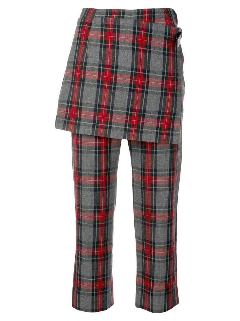 Comme Des Garçons Vintage 1998's plaid skirt trousers - Grey
