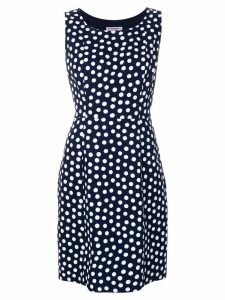 Yves Saint Laurent Pre-Owned polka dot-print sleeveless dress - Blue