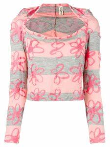 Comme Des Garçons Pre-Owned 1996's floral blouse - Pink