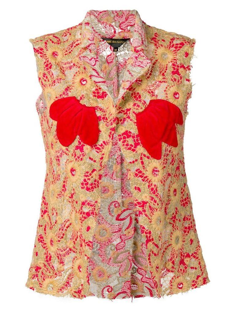 Comme Des Garçons Vintage 2003's embroidered waistcoat