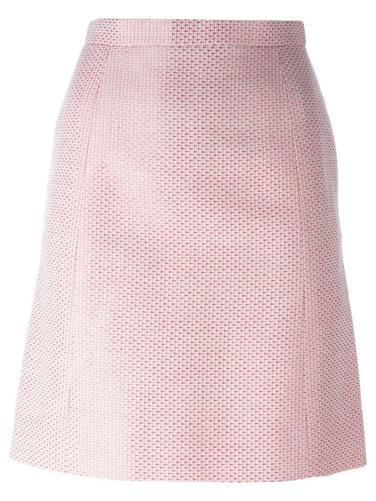 Chanel Pre-Owned patterned skirt - PINK