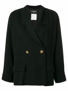 Chanel Vintage oversized gabardine blazer - Black