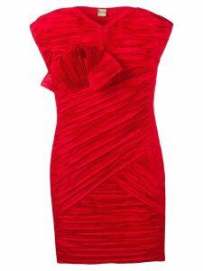 Krizia Vintage 1980's pleated dress - Red