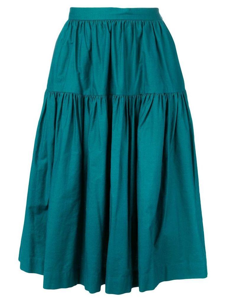 Yves Saint Laurent Vintage 1980's gypsy skirt - Blue