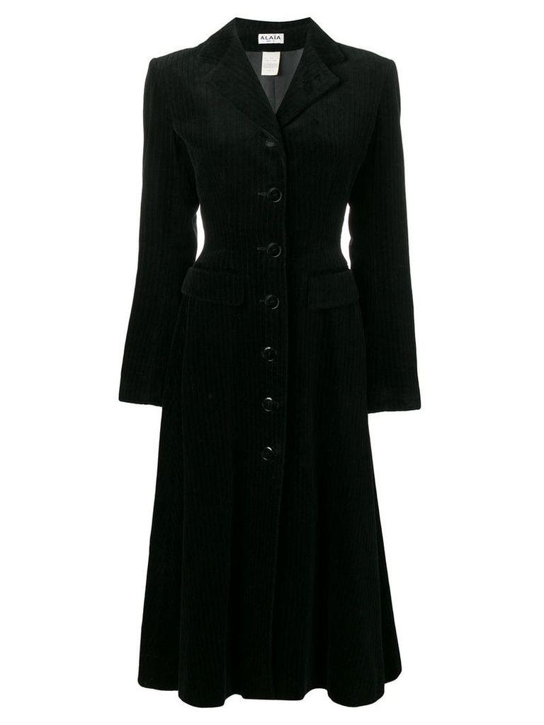 Alaïa Pre-Owned velvet coat - Black