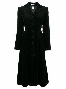ALAÏA PRE-OWNED velvet coat - Black