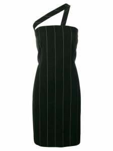Versace Pre-Owned pinstriped mini dress - Black