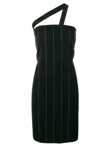 VERSACE PRE-OWNED pinstriped mini dress - Black