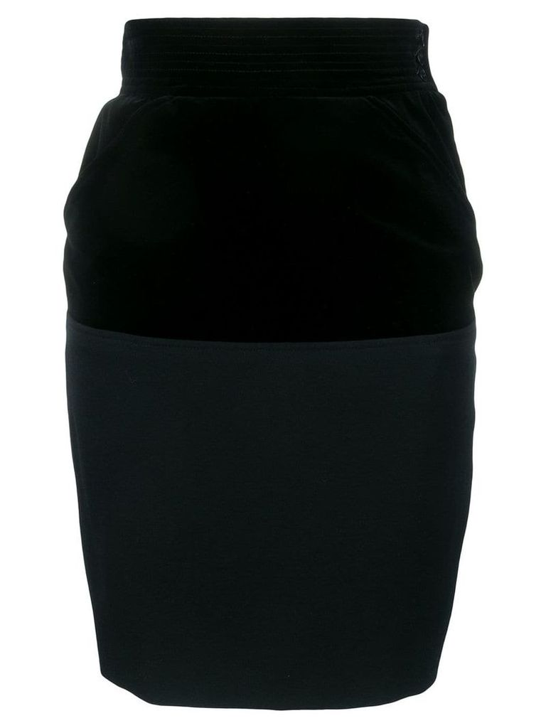 Yves Saint Laurent Pre-Owned 1980's pencil skirt - Black