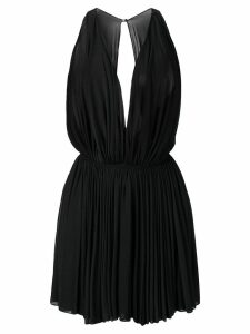 Alaïa Pre-Owned 1990's sheer pleated mini dress - Black