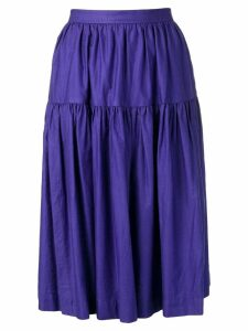 Yves Saint Laurent Pre-Owned 1980's gypsy skirt - Purple