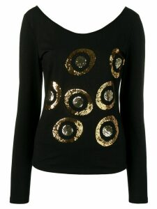 Versace Pre-Owned embroidered blouse - Black