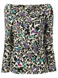Versace Pre-Owned 1990's Arabesque print blouse - Black