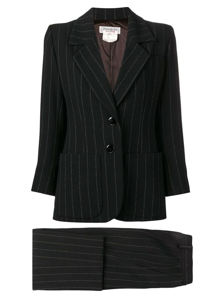 Yves Saint Laurent Pre-Owned pinstriped skirt suit - Black