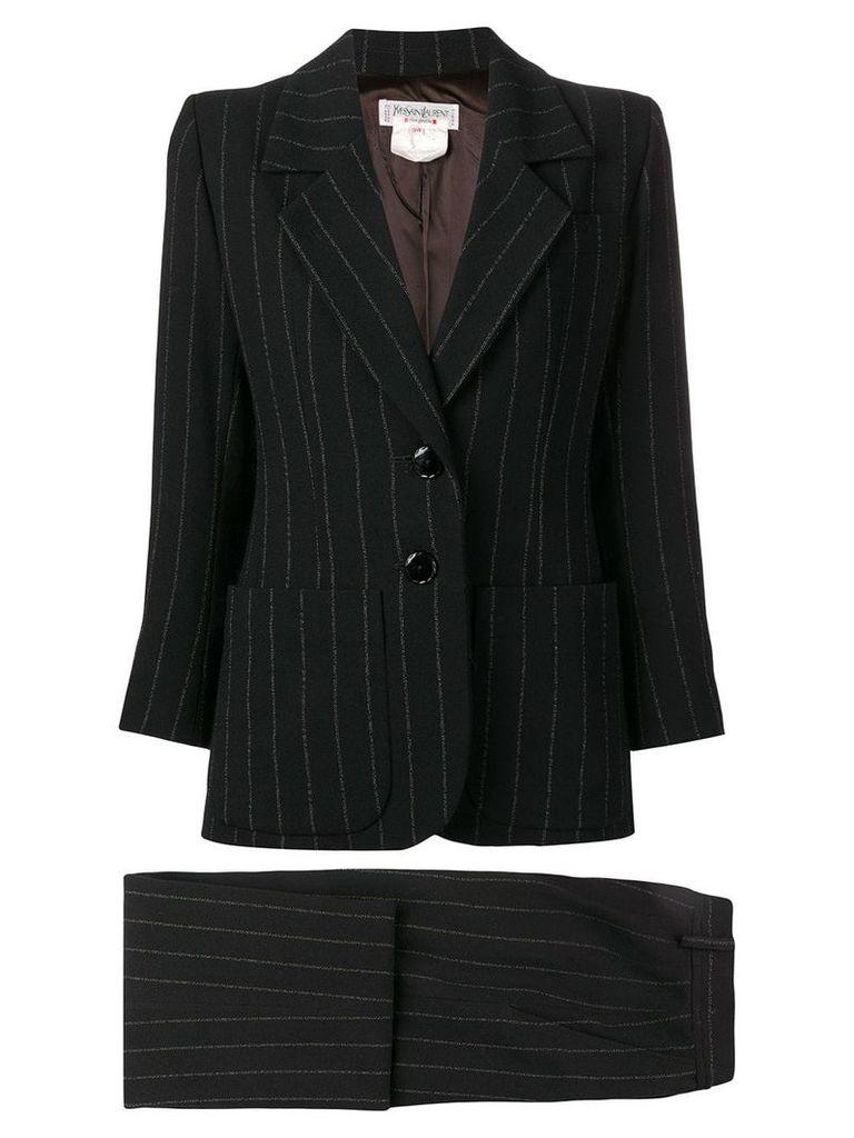 Yves Saint Laurent Vintage pinstriped skirt suit - Black