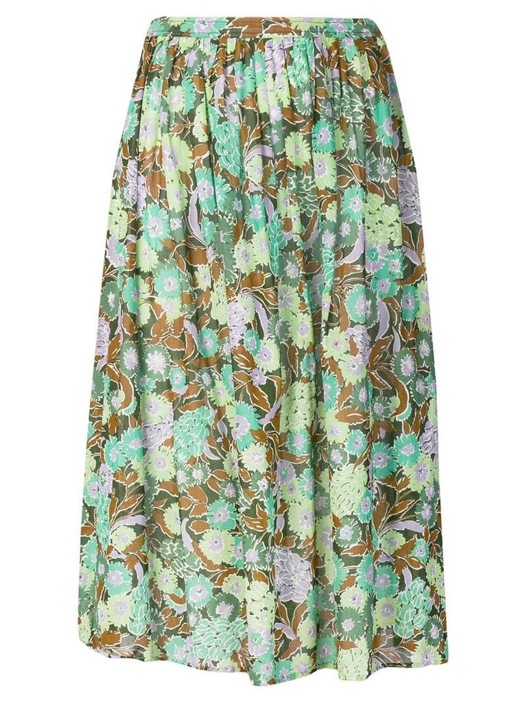 Givenchy Vintage 1980's floral print skirt - Green
