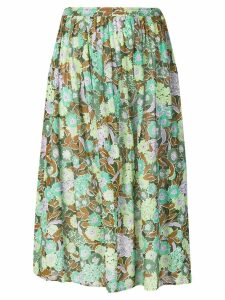 Givenchy Pre-Owned 1980's floral print skirt - Green
