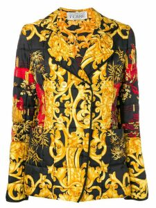 Gianfranco Ferre Pre-Owned Asian print quilted jacket - Yellow