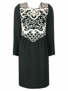 Valentino Pre-Owned embroidered cocktail dress - Black