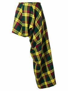 Comme Des Garçons Pre-Owned unstructured asymmetric skirt - Yellow