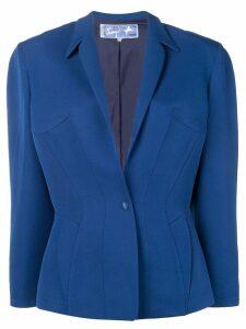 Thierry Mugler Pre-Owned boxy blazer - Blue