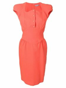 Thierry Mugler Pre-Owned 1990's dress - Orange