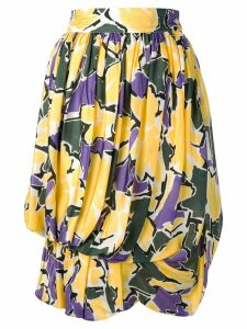 Versace Pre-Owned 1980's floral print balloon skirt - Yellow