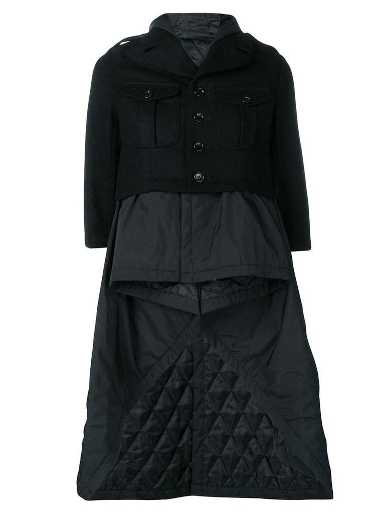 Comme Des Garçons Vintage padded layered coat - Black