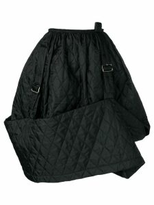 Comme Des Garçons Pre-Owned quilted A-line skirt - Black