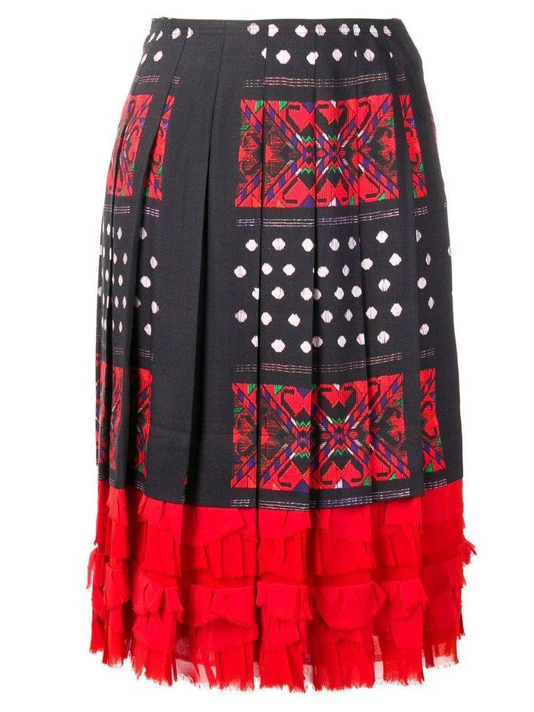 Comme Des Garçons Vintage pleated ruffled skirt - Blue