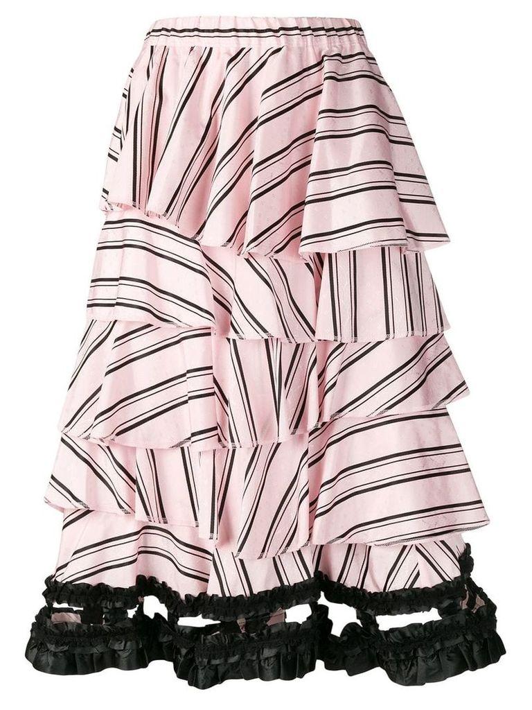 Comme Des Garçons Vintage layered striped skirt - Pink