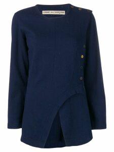 Comme Des Garçons Pre-Owned 1980's asymmetric blouse - Blue