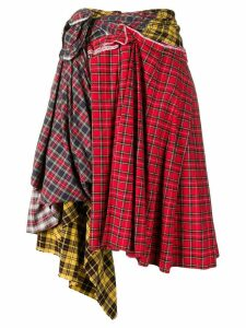 Comme Des Garçons Pre-Owned deconstructed plaid skirt - Red