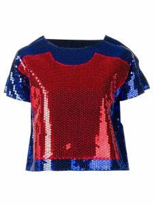 COMME DES GARÇONS PRE-OWNED Two Dimension blouse - Blue
