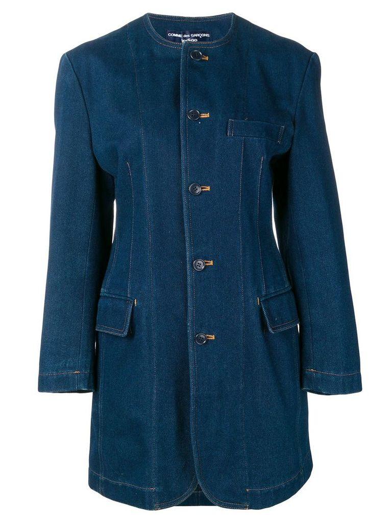 Comme Des Garçons Vintage 1980's denim midi coat - Blue