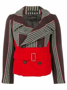 Comme Des Garçons Pre-Owned 2001's striped double-breasted jacket -