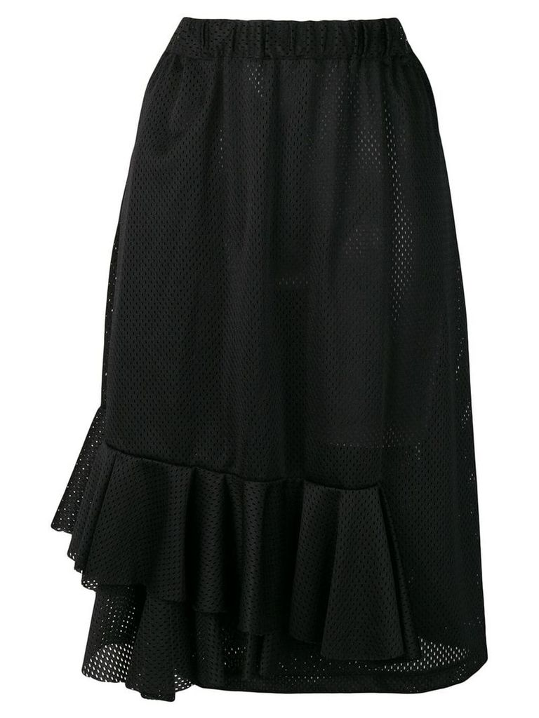 Comme Des Garçons Vintage frilled mesh skirt - Black